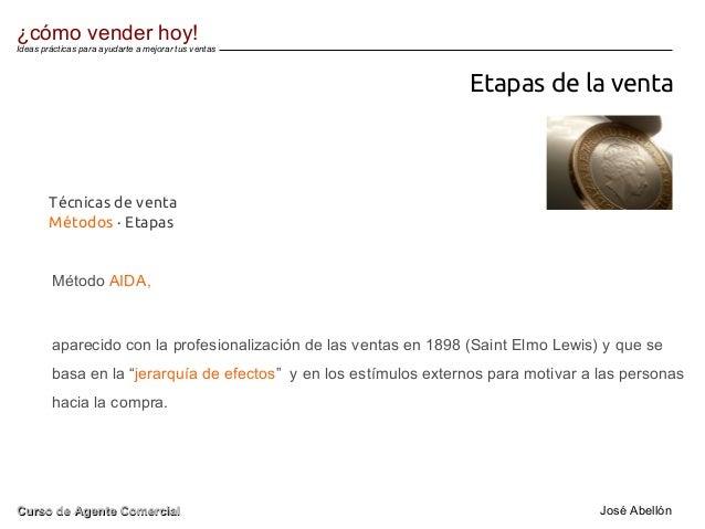 Etapas de la venta Método AIDA, aparecido con la profesionalización de las ventas en 1898 (Saint Elmo Lewis) y que se basa...