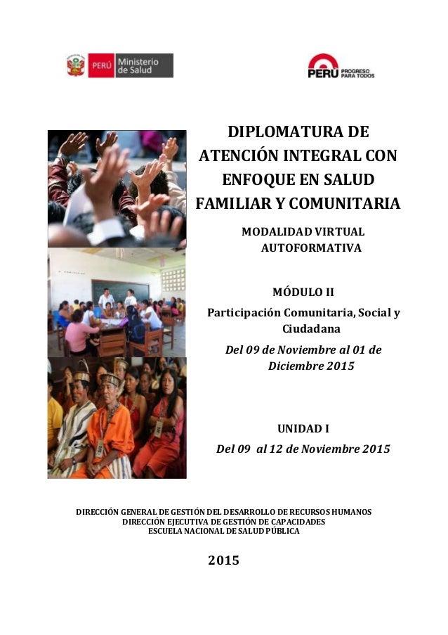 Silabo Del Modulo 2 Participación Comunitaria Social Y