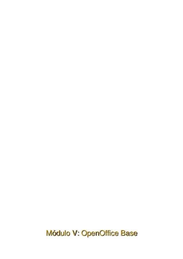 MóduloV:OpenOfficeBase