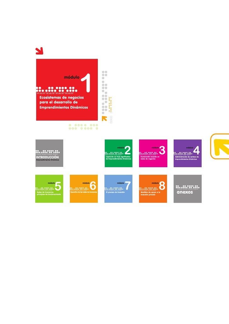 1                      módulo    Ecosistemas de negocios para el desarrollo de Emprendimientos Dinámicos     índice módulo...