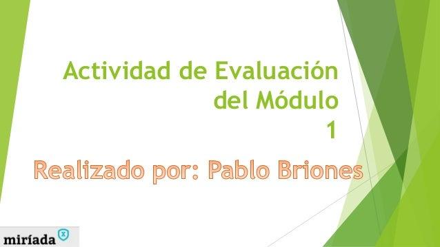 Actividad de Evaluación del Módulo 1