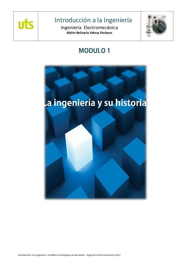 Introducción a la Ingeniería                                        Ingeniería Electromecánica                            ...
