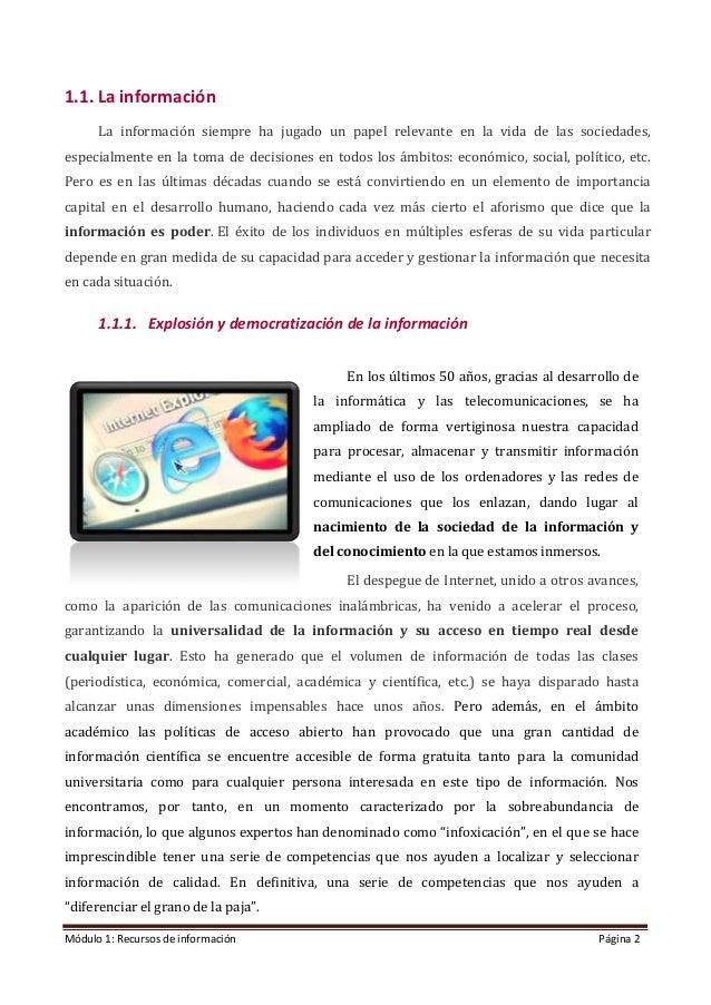 Modulo 1. Recursos de información (Edición: Noviembre 2020) Slide 2