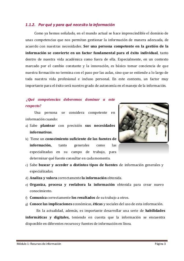 Modulo 1. Recursos de información (Edición: Noviembre 2020) Slide 3