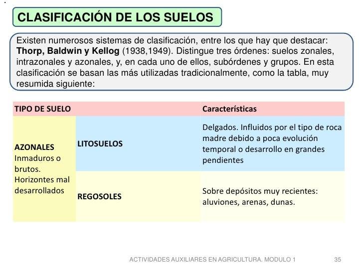 Tipos de suelos for Caracteristicas de los suelos
