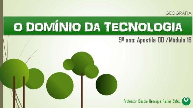 Pode-se definir a palavra tecnologia, como o conjunto de conhecimentos, métodos e instrumentos criados pelo ser humano, qu...