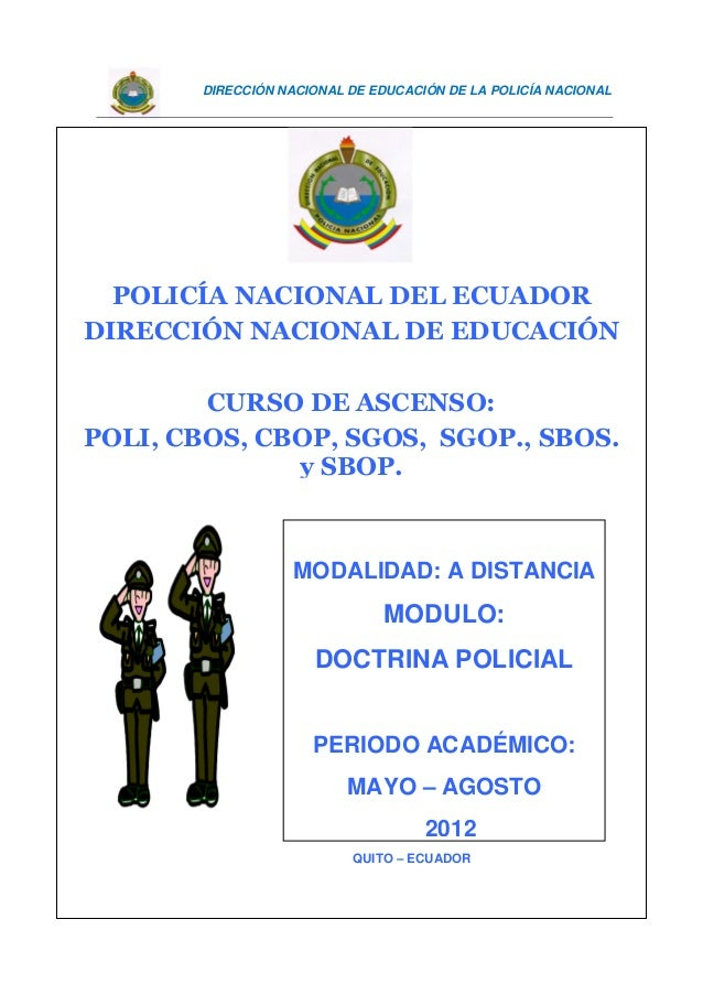 Modulo 1 Doctrina Doctrina Policial