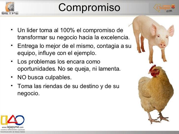 Compromiso <ul><li>Un lider toma al 100% el compromiso de transformar su negocio hacia la excelencia. </li></ul><ul><li>En...