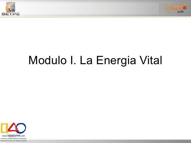Modulo I. La Energia Vital