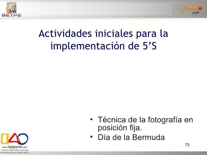 <ul><li>Técnica de la fotografía en posición fija. </li></ul><ul><li>Día de la Bermuda </li></ul>Actividades iniciales par...