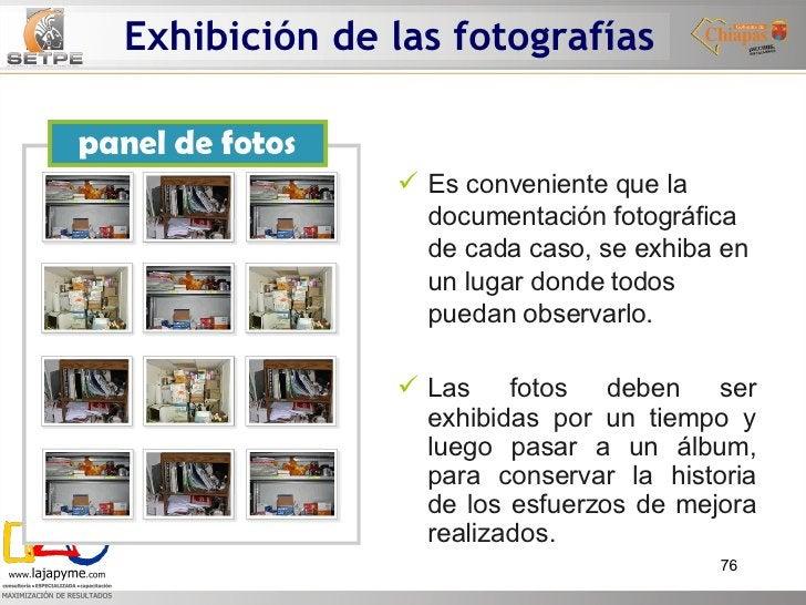 Exhibición de las fotografías <ul><li>Es conveniente que la documentación fotográfica de cada caso, se exhiba en un lugar ...