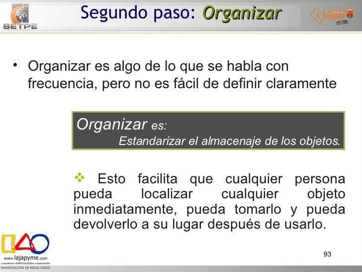 <ul><li>Organizar es algo de lo que se habla con frecuencia, pero no es fácil de definir claramente </li></ul>Organizar  e...