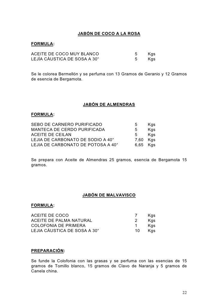 Modulo 1 formulas fabricacion2 - Formula para hacer jabon casero ...