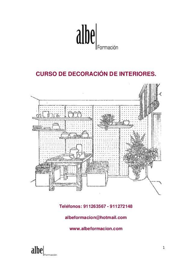 Modulo 2 decoracion de interiores for Curso de diseno de interiores pdf