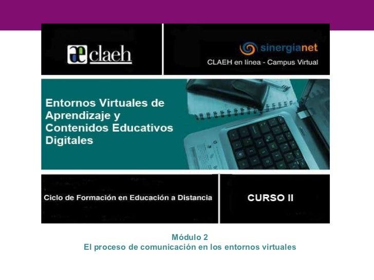 Módulo 2 El proceso de comunicación en los entornos virtuales