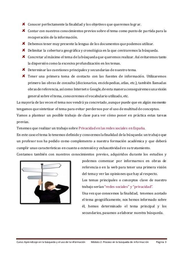 Módulo 2. Proceso en la búsqueda de información (Edición: marzo 2021) Slide 3