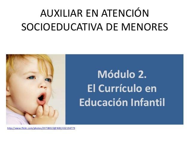 AUXILIAR EN ATENCIÓN SOCIOEDUCATIVA DE MENORES  Módulo 2. El Currículo en Educación Infantil http://www.flickr.com/photos/...
