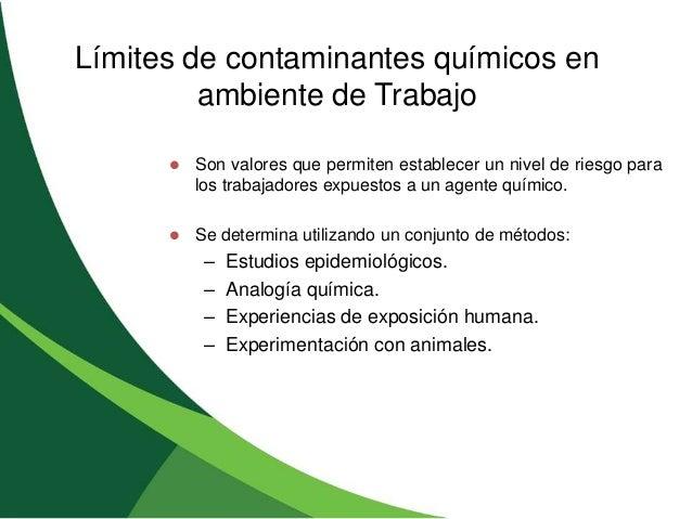 Modulo 2 agentes quimicos for Ambiente de trabajo