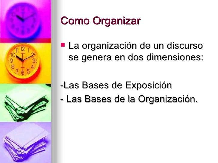Organizacion Del Discurso Oral 116