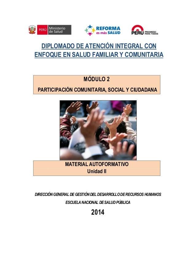 Módulo 2 Participación Comunitaria Social Y Ciudadana
