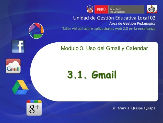 Unidad de Gestión Educativa Local 02                               Área de Gestión PedagógicaTaller virtual sobre aplicaci...
