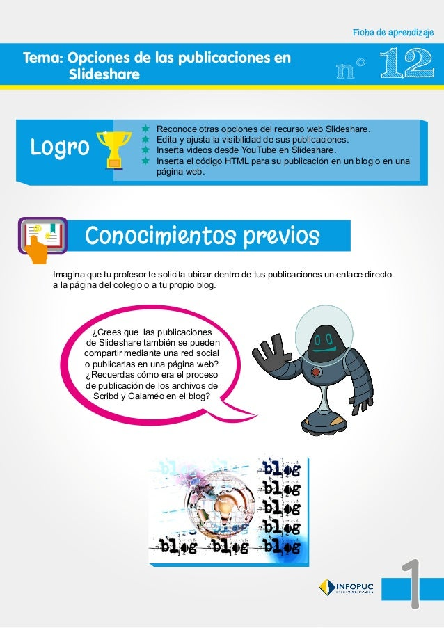 Tema: Opciones de las publicaciones en  Slideshare @ # ¿Crees que las publicaciones de Slideshare también se pueden compa...