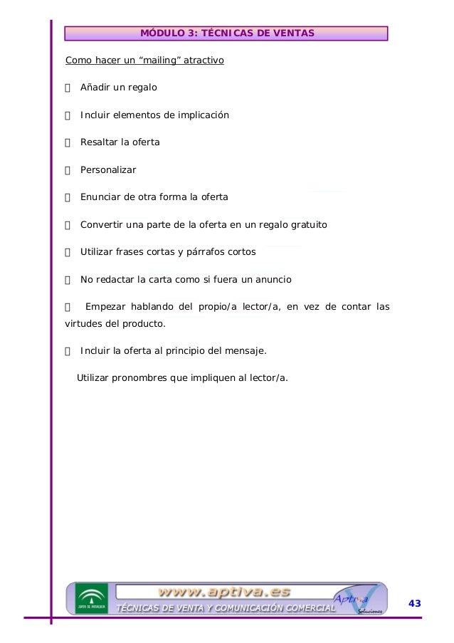 MÓDULO 3: TÉCNICAS DE VENTAS »UIDEAS CLAVES Existen diferentes tipos de ventas, las más usuales son: venta directa, venta ...