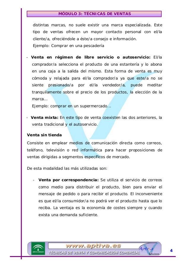 MÓDULO 3: TÉCNICAS DE VENTAS - Venta por Catálogo: El/la cliente/a potencial recibe un catálogo a domicilio, en el que se ...
