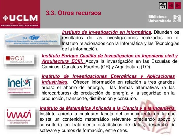 3.3. Otros recursos Instituto de Investigaciones Energéticas y Aplicaciones Industriales. Ofrecen información en relación ...