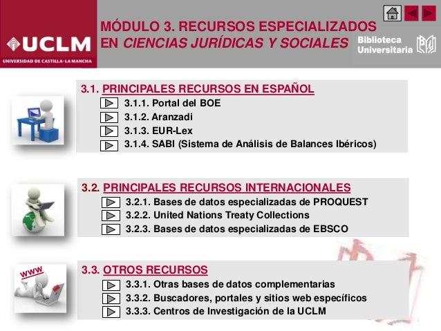 Modulo 3. Recursos especializados en Ciencias Jurídicas y Sociales (Edición: Febrero 2020) Slide 2