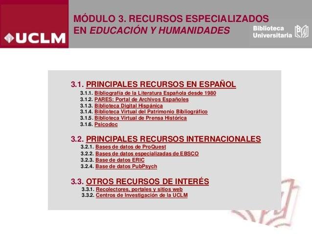Modulo 3. Recursos especializados en Ciencias de la Educacion y Humanidades (Edición: Noviembre 2020) Slide 2