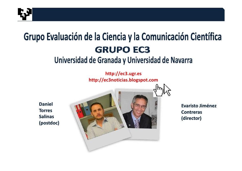 MÓDULO 4.CURSO UPV/EHU. .Consejos para mejorar la difusión y recuperación de los trabajos científicos Slide 2