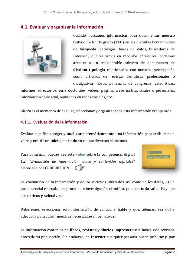 Modulo 4. Tratamiento y ética de la información (Edición: Marzo 2021) Slide 2