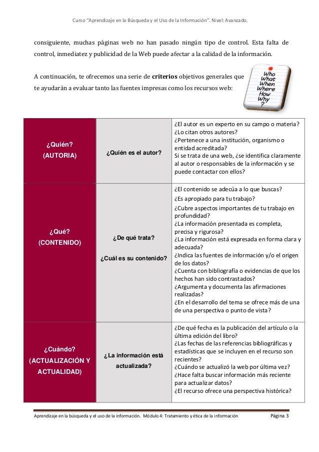 Modulo 4. Tratamiento y ética de la información (Edición: Marzo 2021) Slide 3