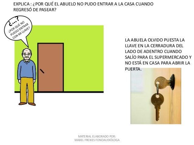MATERIAL ELABORADO POR: MABEL FREIXES FONOAUDIÓLOGA EXPLICA : ¿POR QUÉ EL ABUELO NO PUDO ENTRAR A LA CASA CUANDO REGRESÓ D...