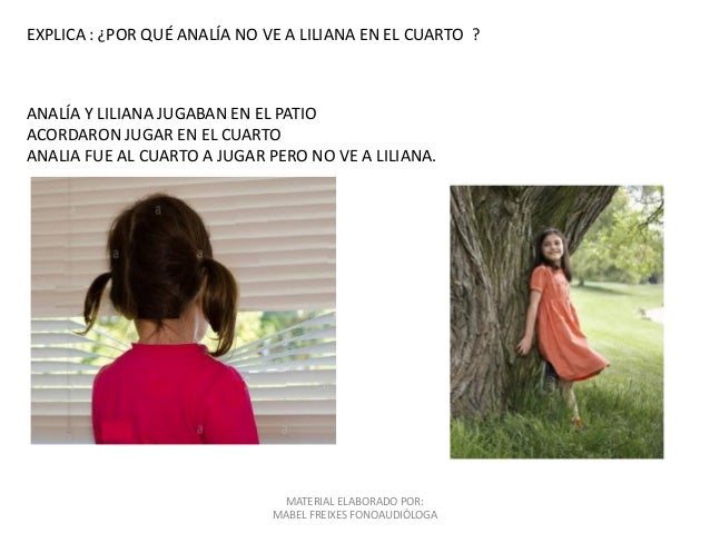 ANALÍA Y LILIANA JUGABAN EN EL PATIO ACORDARON JUGAR EN EL CUARTO ANALIA FUE AL CUARTO A JUGAR PERO NO VE A LILIANA. EXPLI...