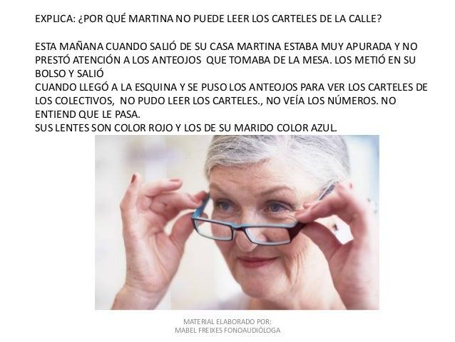 MATERIAL ELABORADO POR: MABEL FREIXES FONOAUDIÓLOGA EXPLICA: ¿POR QUÉ MARTINA NO PUEDE LEER LOS CARTELES DE LA CALLE? ESTA...