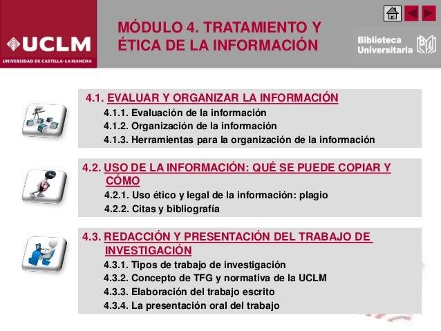 Módulo 4. Tratamiento y ética de la información. Educación y Humanidades (Edición:Febrero 2020) Slide 2