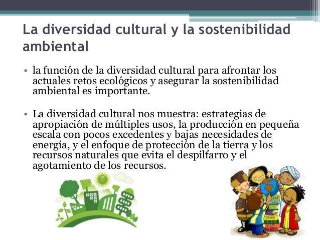 La diversidad cultural y la sostenibilidad  ambiental  • la función de la diversidad cultural para afrontar los  actuales ...