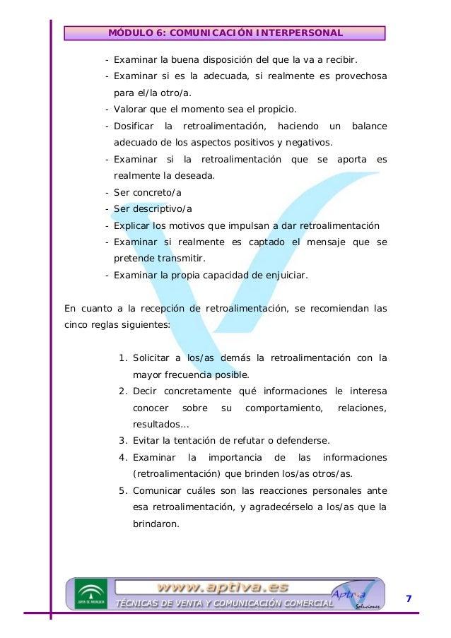 MÓDULO 6: COMUNICACIÓN INTERPERSONAL URuidos y barreras en la comunicación El ruido es cualquier factor que perturba, o cr...