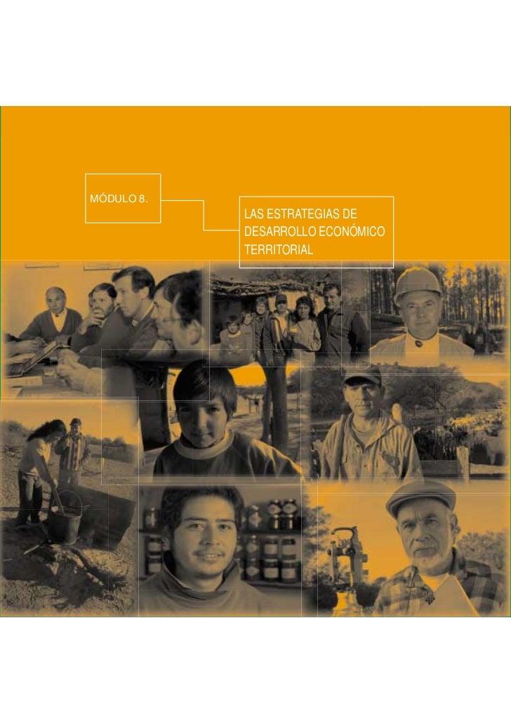 Las estrategias de desarrollo económico territorial   MÓDULO 8MÓDULO 8.            LAS ESTRATEGIAS DE            DESARROLL...