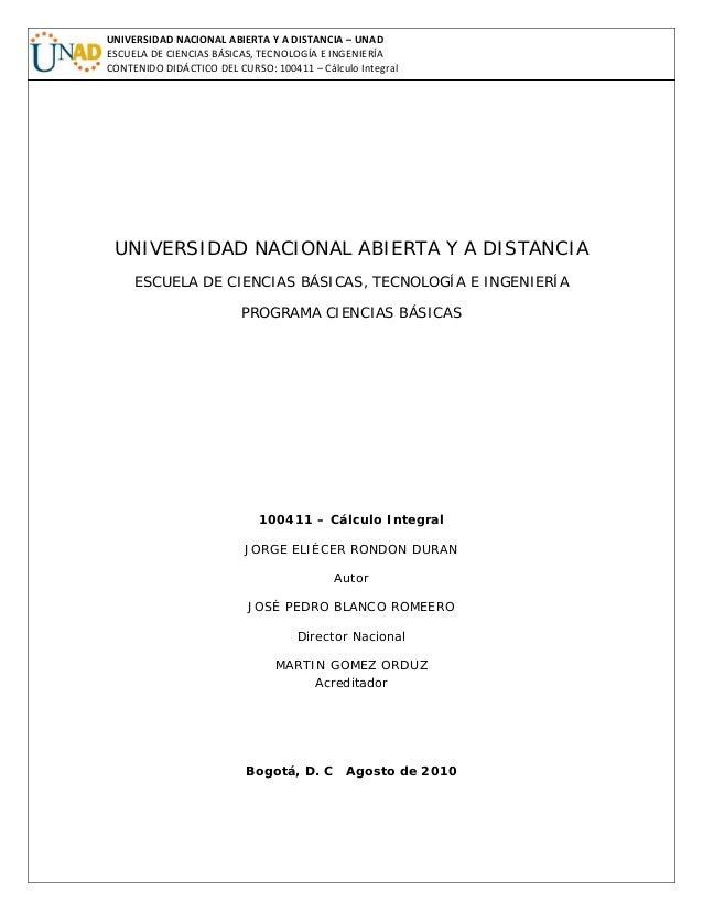 Modulo Calculo Integral