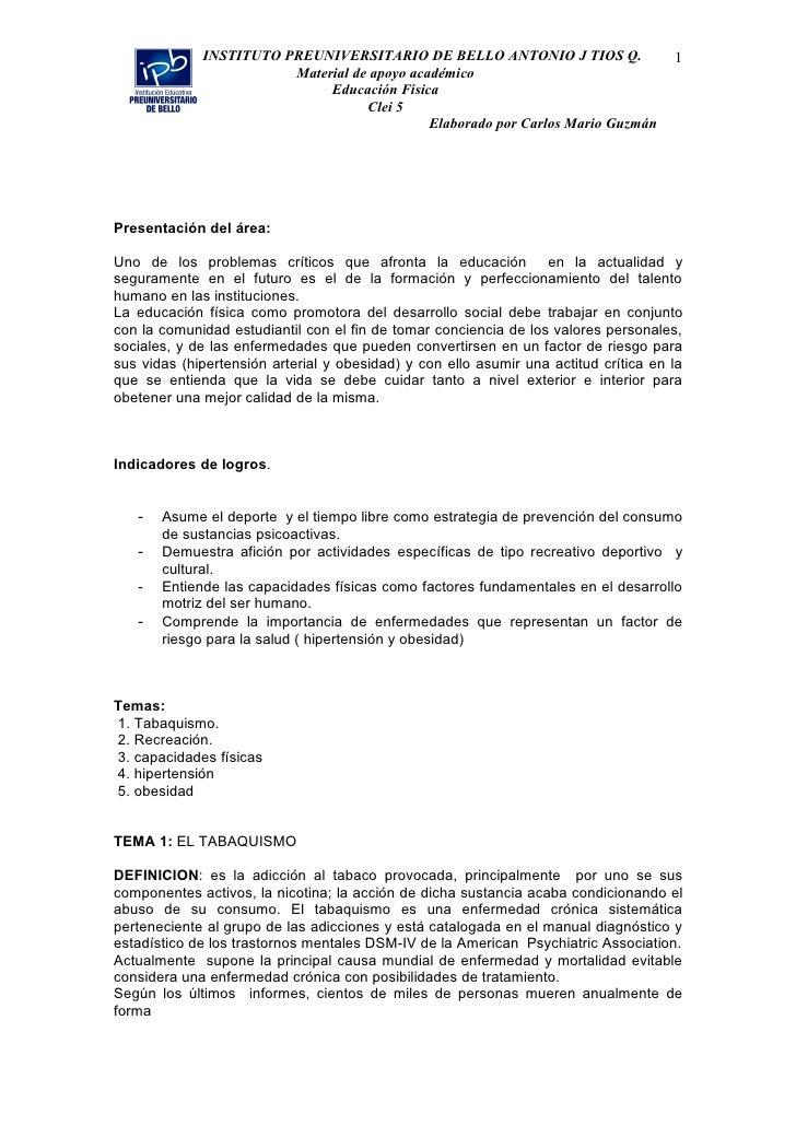 INSTITUTO PREUNIVERSITARIO DE BELLO ANTONIO J TIOS Q.                    1                         Material de apoyo acadé...
