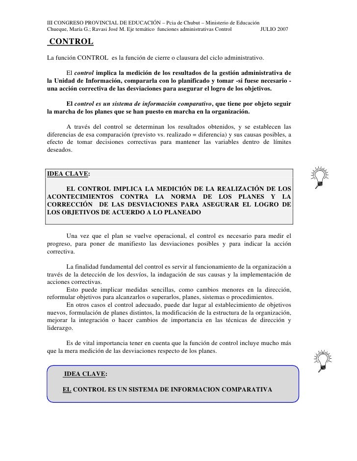 III CONGRESO PROVINCIAL DE EDUCACIÓN – Pcia de Chubut – Ministerio de Educación Chueque, María G.; Ravasi José M. Eje temá...