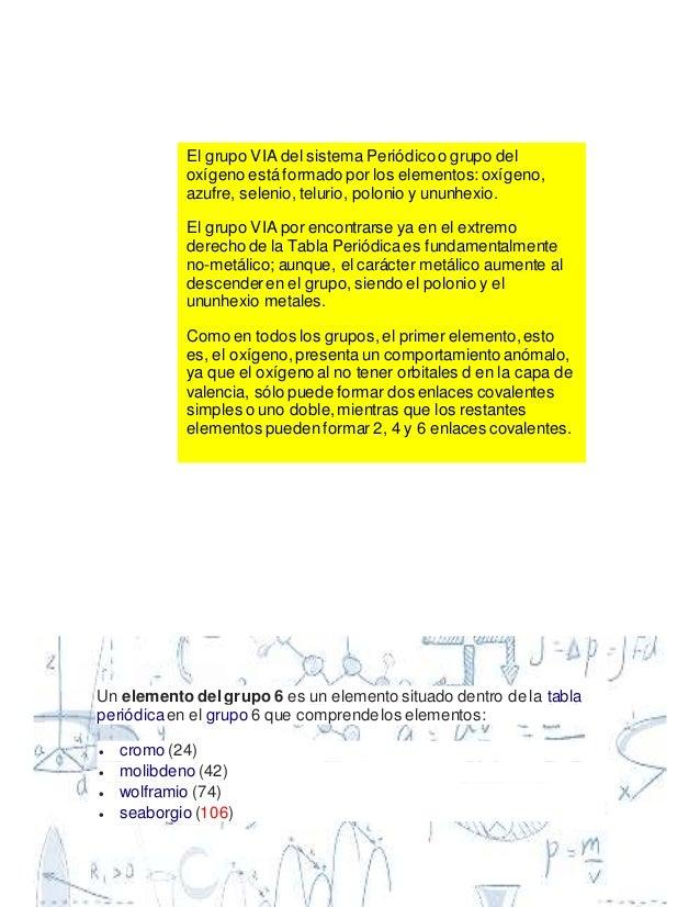 25 y - Tabla Periodica Grupo 6 A