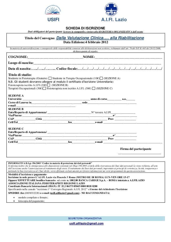 Modulo d 39 iscrizione for Bonifico ristrutturazione