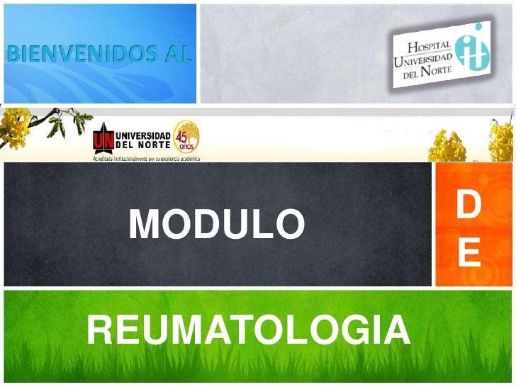 MODULO        D               EREUMATOLOGIA