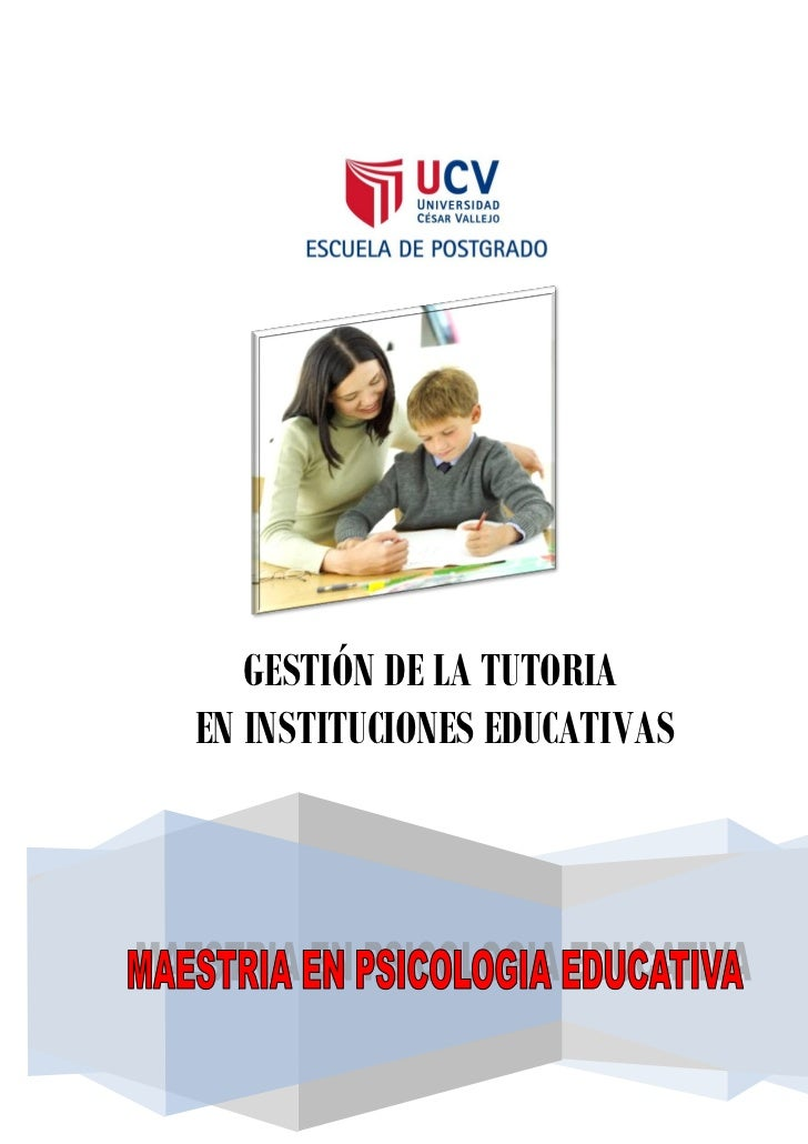 GESTIÓN DE LA TUTORIAEN INSTITUCIONES EDUCATIVAS