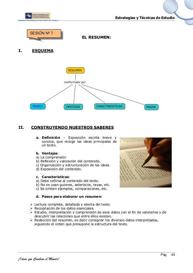 estrategias y tecnicas de estudio
