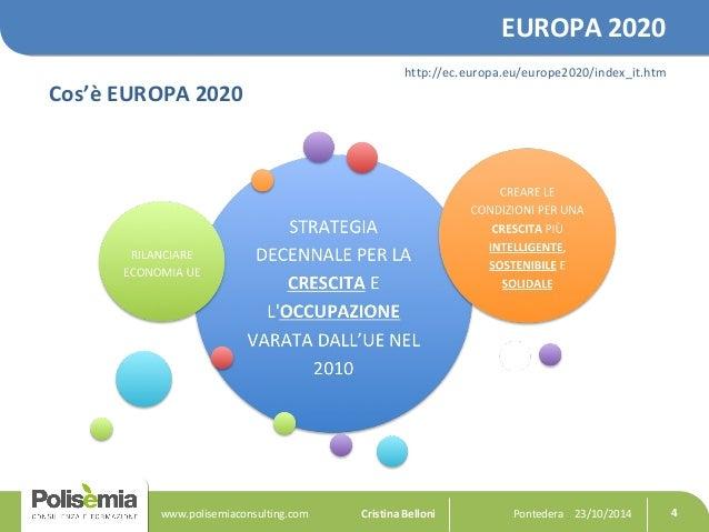 EUROPA 2020  Cos'è EUROPA 2020  http://ec.europa.eu/europe2020/index_it.htm  Pontedera www.polisemiaconsulting.com Cristin...